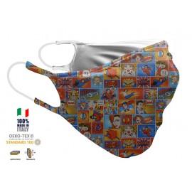 Maschera Filtrante Personalizzabile - Lavabile - Doppio strato - con Tasca interna per Filtro - EVOLUTION FASHION 36