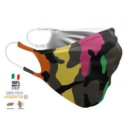 Maschera Filtrante Personalizzabile - Lavabile - Doppio strato - con Tasca interna per Filtro - EVOLution FASHION 005