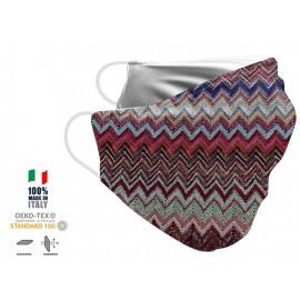 Maschera Filtrante Personalizzabile - Lavabile - Monostrato - con Tasca interna per Filtro - EVOL MASK FASHION  00001