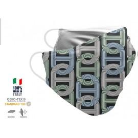 Maschera Filtrante Personalizzabile - Lavabile - Monostrato - con Tasca interna per Filtro - EVOL MASK FASHION  00007
