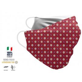 Maschera Filtrante Personalizzabile - Lavabile - Monostrato - con Tasca interna per Filtro - EVOL MASK FASHION  00016