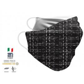 Maschera Filtrante Personalizzabile - Lavabile - Monostrato - con Tasca interna per Filtro - EVOL MASK FASHION  00010