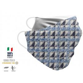 Maschera Filtrante Personalizzabile - Lavabile - Monostrato - con Tasca interna per Filtro - EVOL MASK FASHION  00020
