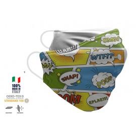 Maschera Filtrante Personalizzabile - Lavabile - Monostrato - con Tasca interna per Filtro - EVOL MASK FASHION  35