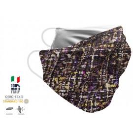 Maschera Filtrante Personalizzabile - Lavabile - Monostrato - con Tasca interna per Filtro - EVOL MASK FASHION  00009