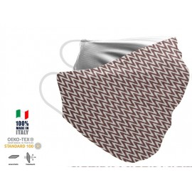 Maschera Filtrante Personalizzabile - Lavabile - Monostrato - con Tasca interna per Filtro - EVOL MASK FASHION  00018